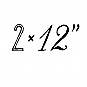 "2 x 12"""