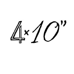 "4 x 10"""